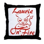 Laurie On Fire Throw Pillow