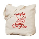 Layla On Fire Tote Bag