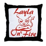 Layla On Fire Throw Pillow