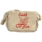 Leah On Fire Messenger Bag