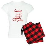 Leslie On Fire Women's Light Pajamas