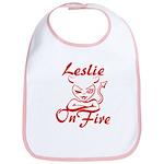 Leslie On Fire Bib