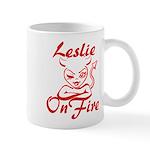 Leslie On Fire Mug