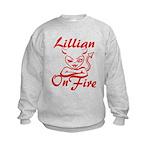 Lillian On Fire Kids Sweatshirt