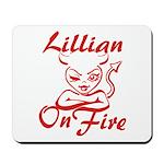 Lillian On Fire Mousepad