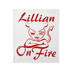 Lillian On Fire Throw Blanket