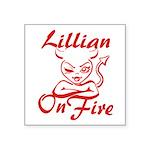 Lillian On Fire Square Sticker 3