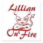 Lillian On Fire Square Car Magnet 3