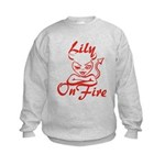 Lily On Fire Kids Sweatshirt
