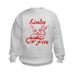 Linda On Fire Kids Sweatshirt