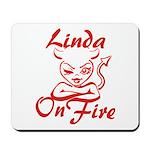 Linda On Fire Mousepad