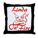 Linda On Fire Throw Pillow