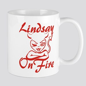 Lindsay On Fire Mug