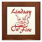 Lindsay On Fire Framed Tile