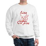 Lisa On Fire Sweatshirt
