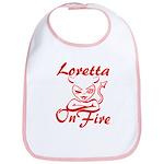 Loretta On Fire Bib