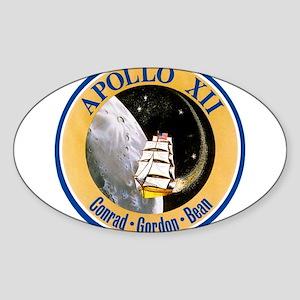 Apollo 12 Mission Patch Sticker (Oval)