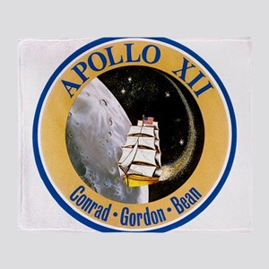 Apollo 12 Mission Patch Throw Blanket