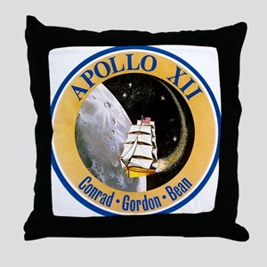 Apollo 12 Mission Patch Throw Pillow