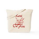 Lori On Fire Tote Bag