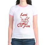 Lori On Fire Jr. Ringer T-Shirt