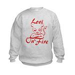 Lori On Fire Kids Sweatshirt