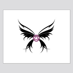 Womans Tribal Butterfly 2000x2000 Small Poster