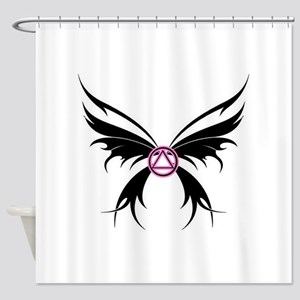 Womans Tribal Butterfly 2000x2000 Shower Curta