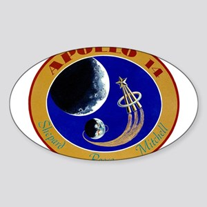 Apollo 14 Mission Patch Sticker (Oval)