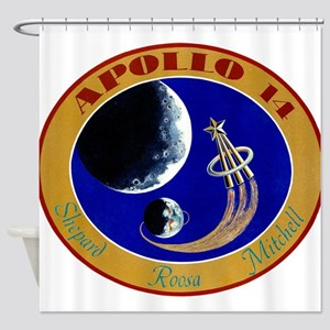 Apollo 14 Mission Patch Shower Curtain
