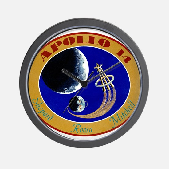 Apollo 14 Mission Patch Wall Clock