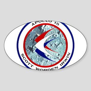 Apollo 15 Mission Patch Sticker (Oval)