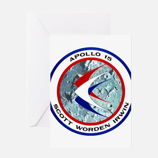 Apollo 15 Mission Patch Greeting Card