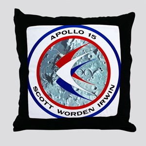 Apollo 15 Mission Patch Throw Pillow