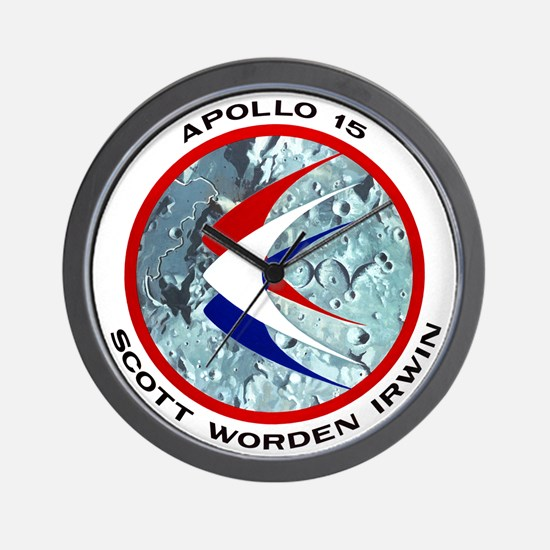 Apollo 15 Mission Patch Wall Clock