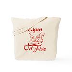 Lynn On Fire Tote Bag