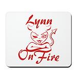 Lynn On Fire Mousepad