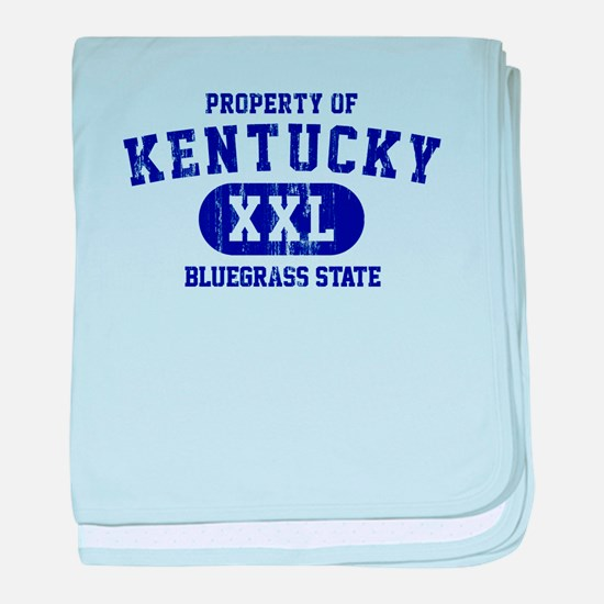 Property of Kentucky, Bluegrass State baby blanket