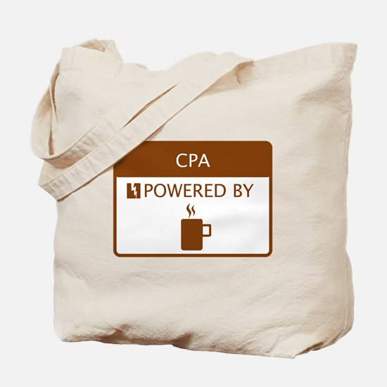 CPA Powered by Coffee Tote Bag