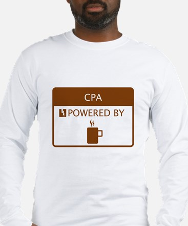 CPA Powered by Coffee Long Sleeve T-Shirt