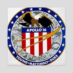 Apollo 16 Mission Patch Queen Duvet