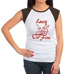 Lucy On Fire Women's Cap Sleeve T-Shirt
