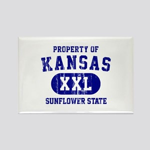Property of Kansas, Sunflower State Rectangle Magn