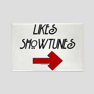 Likes Showtunes (Arrow) Rectangle Magnet