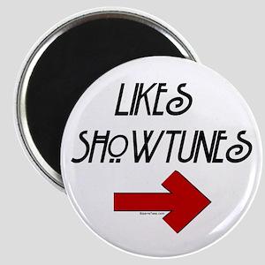 Likes Showtunes (Arrow) Magnet