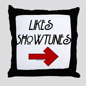 Likes Showtunes (Arrow) Throw Pillow