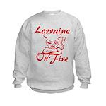 Lorraine On Fire Kids Sweatshirt
