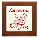 Lorraine On Fire Framed Tile