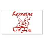 Lorraine On Fire Sticker (Rectangle)