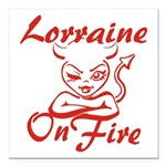 Lorraine On Fire Square Car Magnet 3